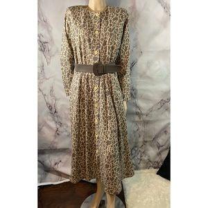 VTG st Gillian Kay unger Jiraffe silk maxi dress12